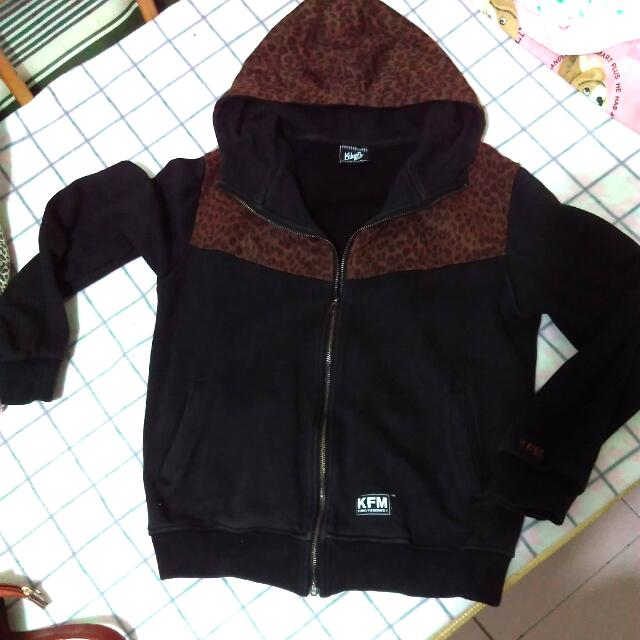 KFM 正版 豹紋 連帽外套