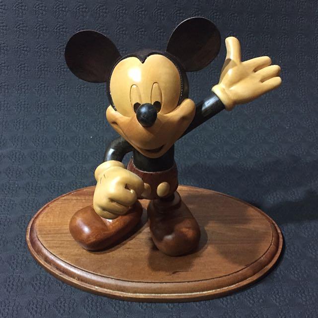 Micky 迪士尼 米老鼠 木製擺設