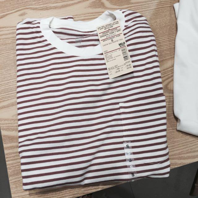 170e50f77e PENDING] Muji Cotton Stripes Shirt, Women's Fashion on Carousell