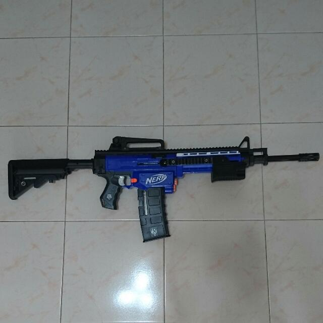 Nerf M4 / M16 Retaliator Mod, Toys & Games On Carousell