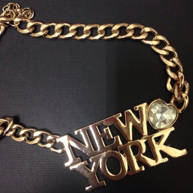 (全新)New York粗項鍊