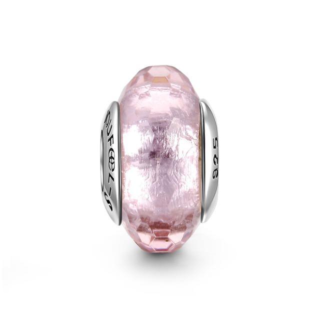 郵寄免運☆正品現貨☆SOUFEEL 索菲爾 925純銀串珠 粉色冰晶 琉璃 Pandora適用