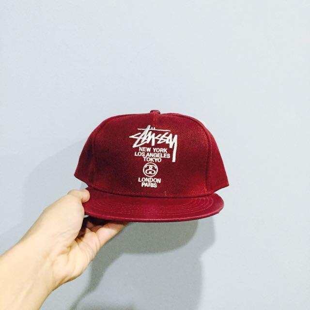 211b1aff8dc Stussy World Tour Red SnapBack Cap