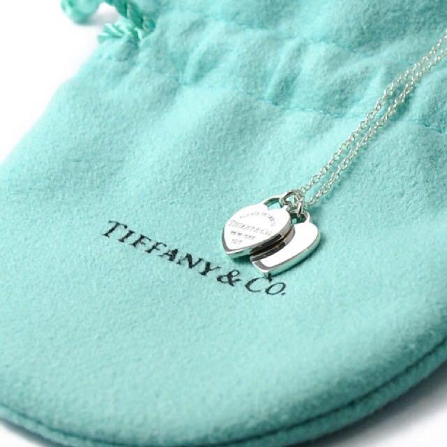 全新✨Tiffany 迷你雙心形鍊墜  情人節禮物 Tiffany&co