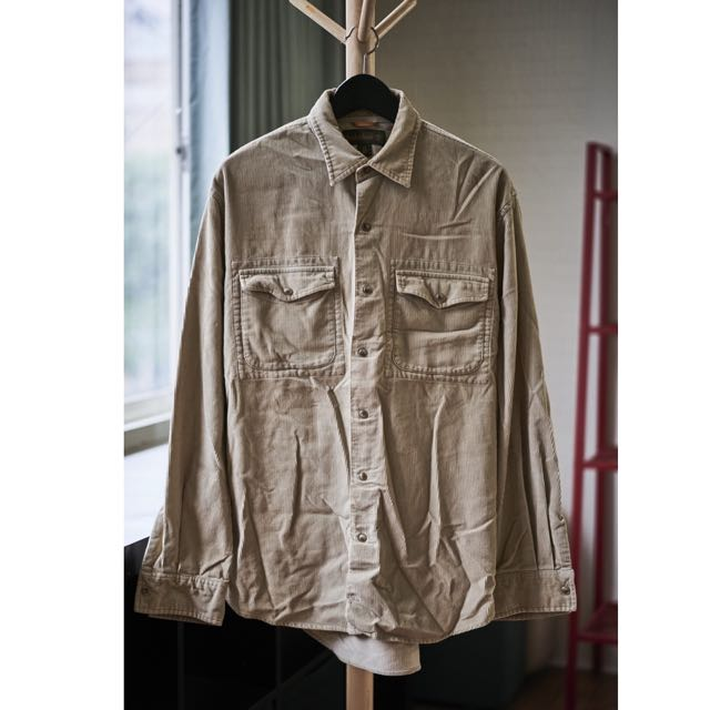 Timberland 加厚絨布卡其襯衫