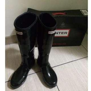 Hunter Regent Neoprene Wellington Boots Black UK 3  22.5