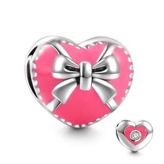 郵寄免運☆正品現貨☆SOUFEEL 索菲爾 925純銀串珠 蝴蝶結禮物盒 愛心 情人節 Pandora適用