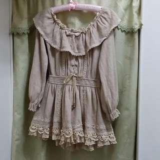 《售出待匯》日本 Liz Lisa 正品 一字領連身褲裙