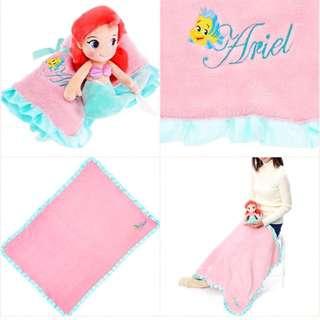 小美人魚抱枕毯