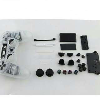 PS4 Dualshock 4 Full OEM Transparent Housing Shell + Buttons (Brand NEW) WITH Installation