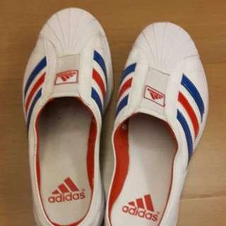 adidas 愛迪達 懶人鞋 布鞋款拖鞋休閒鞋