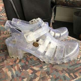 LIPSTIK Jelly Sandals Size 6 US / 39 EUR