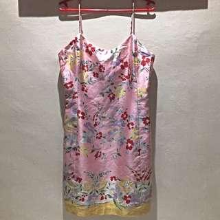 Ralph Lauren Floral Pink Spaghetti Dress in Size 4