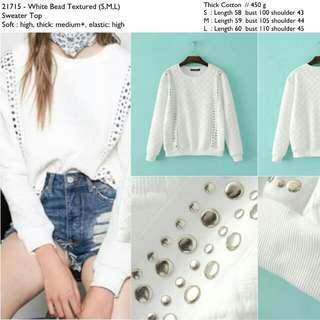 21715 Beaded Sweater