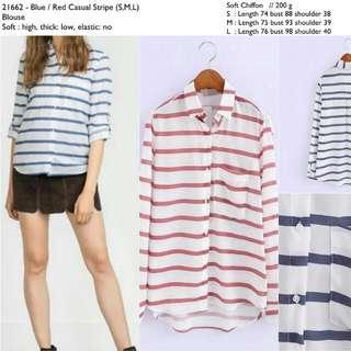 21662 Loose Stripe Shirt
