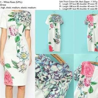 21591 Roses Midi Dress