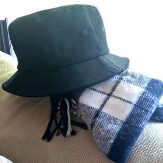 漁夫帽 全新 全黑 素色