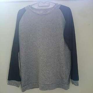 Zara Trafaluc Grey Black Sweater Top