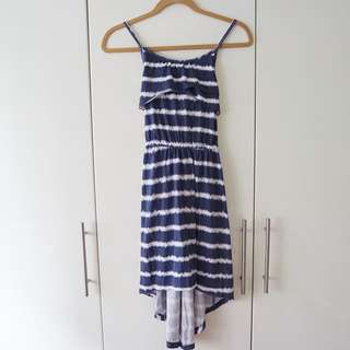 BN Striped Fishtail Dress With Cross Back Detail