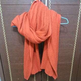 暖日橘針織圍巾#大掃除五折