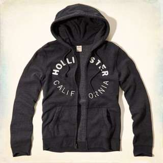 {型鹿}[現貨]HCO Logo Fullzip Hoodie 深灰色刺繡刷毛連帽外套 Size:S*1