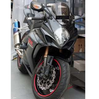 GSXR 1000 K7 - blue flame exhaust One and only ~~ give up riding ~~