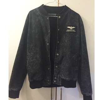❗️降價❗️黑色刷毛棒球外套