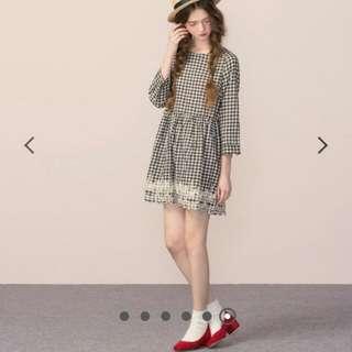 優雅簏皮絨布低跟鞋