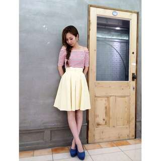 lily brown 日本品牌 刺繡花中長膝上裙