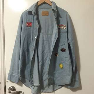 Denim Shirt With Badges