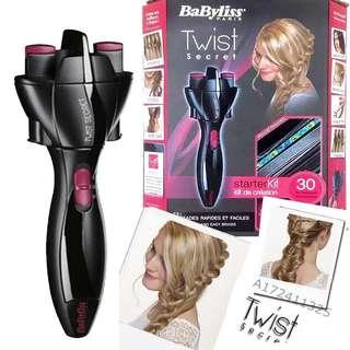 BaByliss Twist Secret 馬尾自動編髮器/自動捲髮器,編馬尾