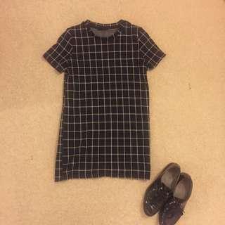 Grid Cotton Dress
