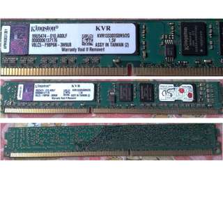 Ram Desktop Pc Kingston 2GB Module - DDR3 1333MHz
