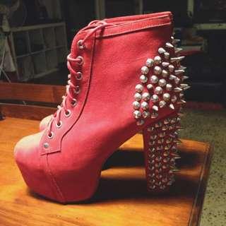 Jeffrey Campbell Lita Red Size 8
