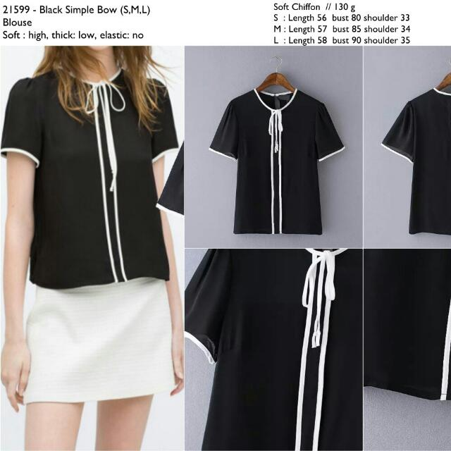 21599 Monochrome List Office Blouse