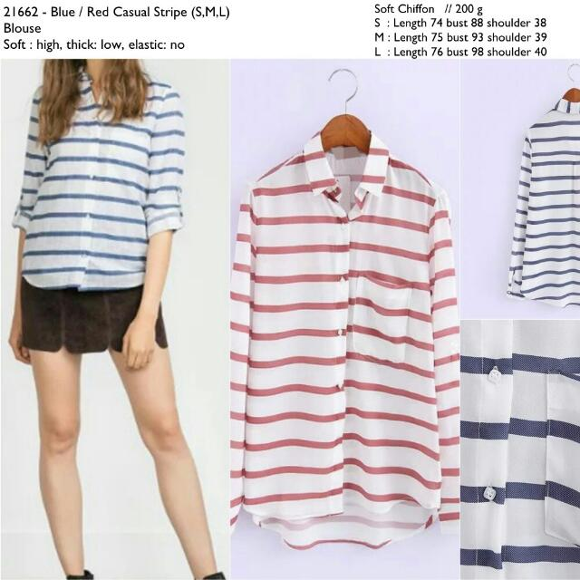 21662 Loose Stripe Shirt