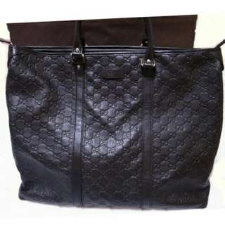 Gucci 雙G壓紋/大托特/旅行袋/手提包