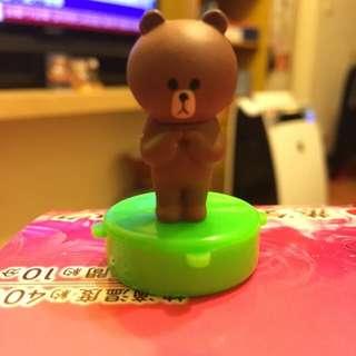 Line Friends 熊大 印章扭蛋 全新