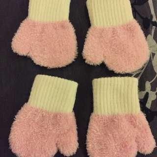 嬰兒絨棉保暖手套