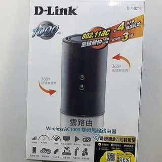 D-Link DIR-820L AC1000 雙頻無線路由器