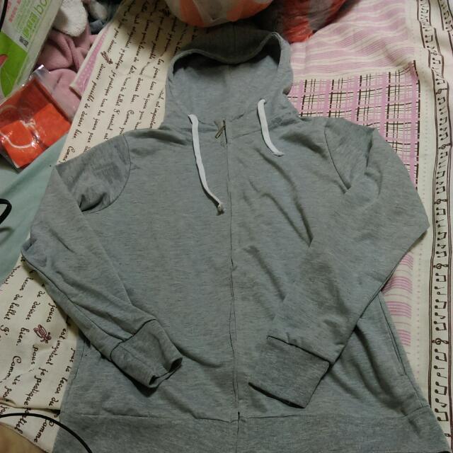 (全新)輕薄灰色運動服外套