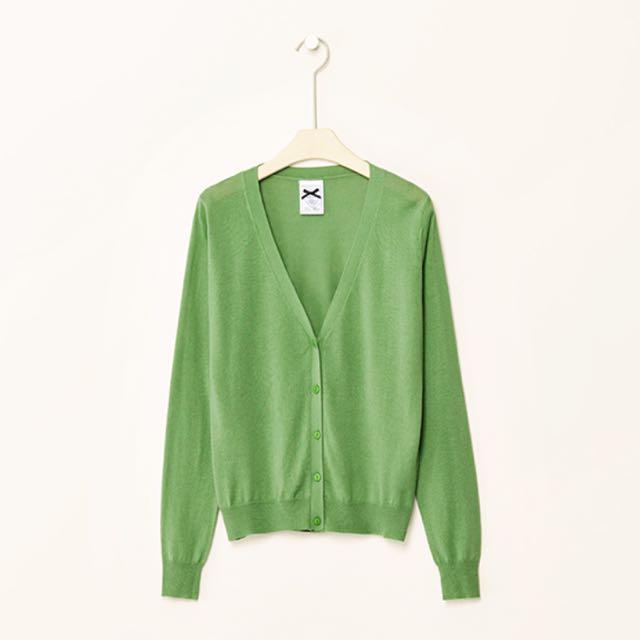 春紛多色針織小外套 青綠
