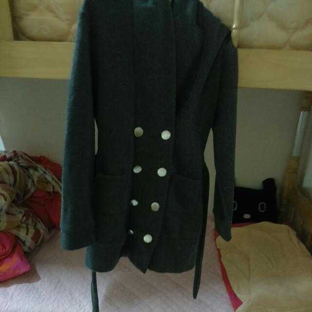 二✋棉質雙排扣大衣