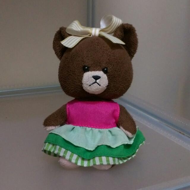 正版 小熊學校吊飾娃娃