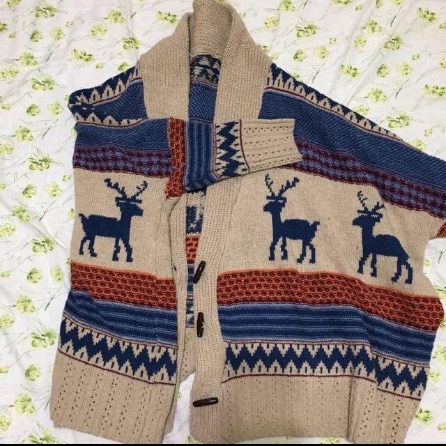 麋鹿 針織 毛衣 外套