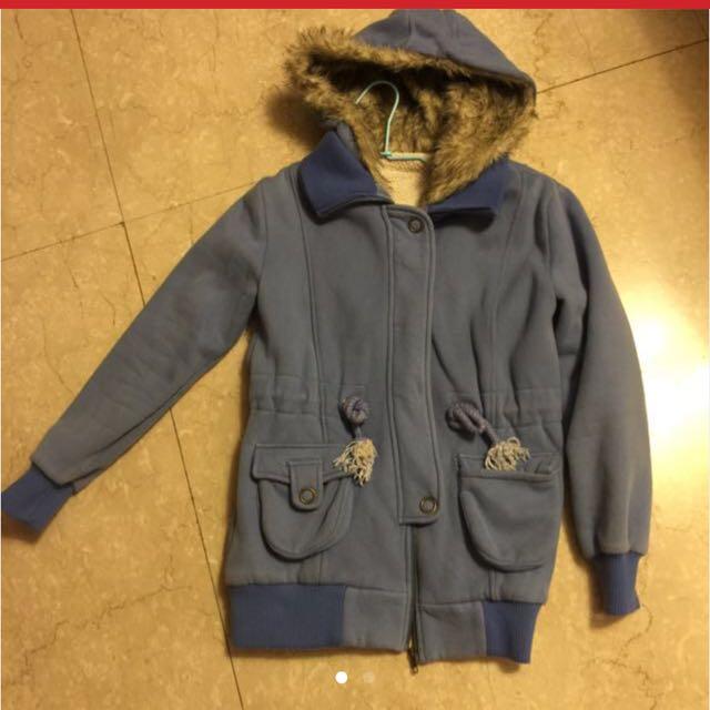 清衣櫃搬家 請帶走 冬季外套 大衣 藍 毛滾邊