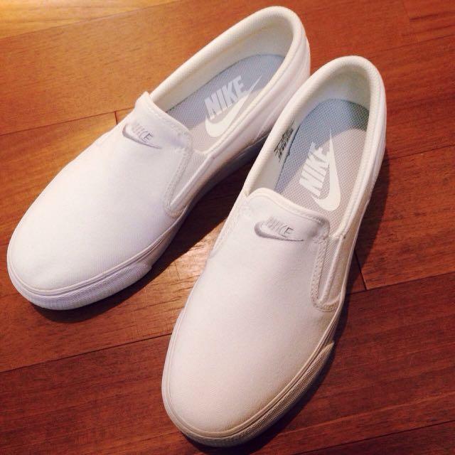 [可議] 全新正品 Nike Wmns Toki Canvas 懶人鞋 (現貨 白)