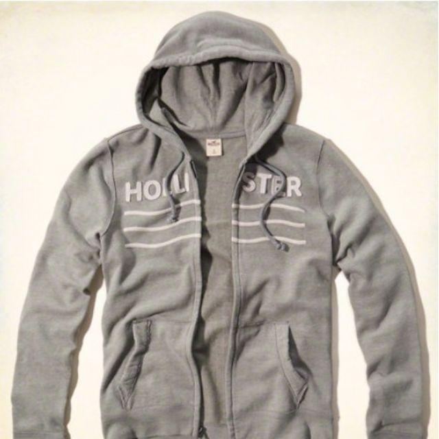 {型鹿}[現貨] HCO Logo Fullzip Hoodie 灰色刺繡刷毛連帽外套 Size:S*1