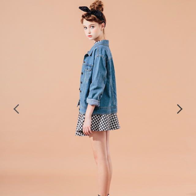 甜系復古格紋傘襬短裙 Pazzo #2016vday