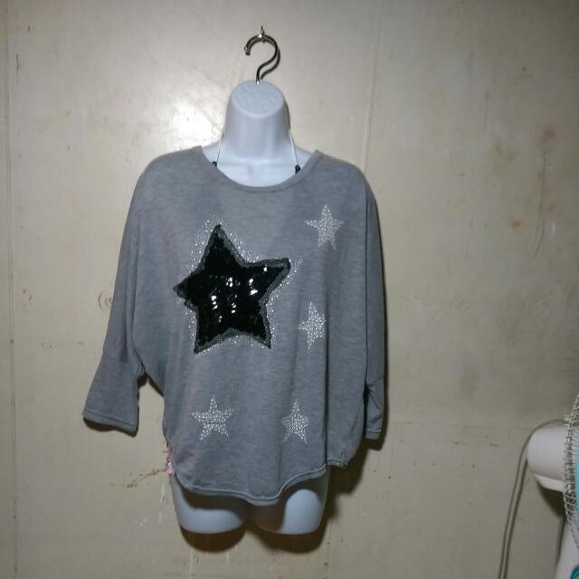 灰色星星 T恤